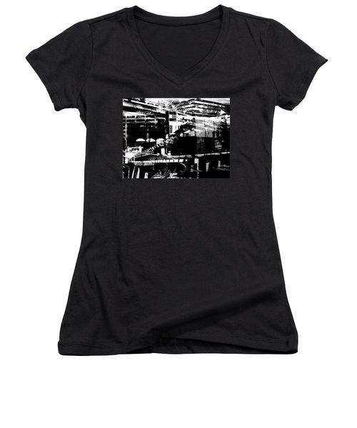 Metropolis Zurich 1 Women's V-Neck T-Shirt