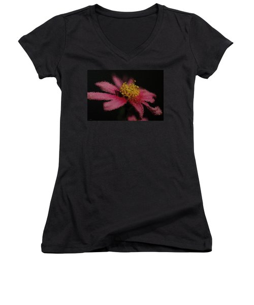 Midnight Bloom Women's V-Neck (Athletic Fit)