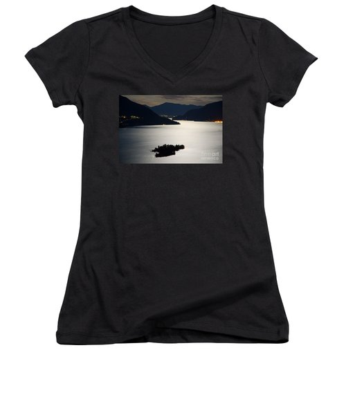 Moon Light Over Islands Women's V-Neck