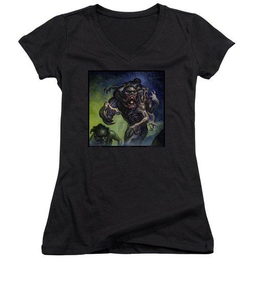 Mutants  Women's V-Neck T-Shirt (Junior Cut) by Tony Koehl