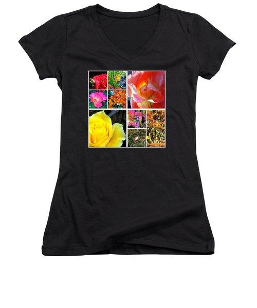 My #9ofpride Collage Women's V-Neck T-Shirt