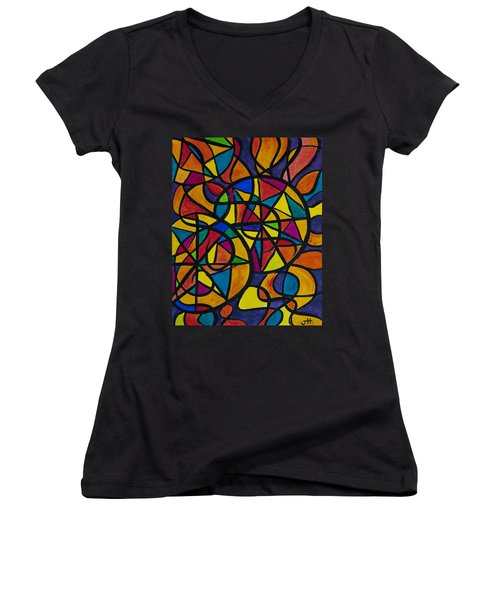 My Three Suns Women's V-Neck T-Shirt