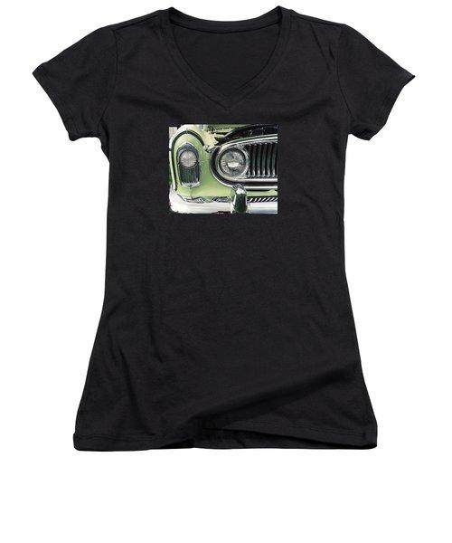Women's V-Neck T-Shirt (Junior Cut) featuring the photograph Nash Nose by John Schneider