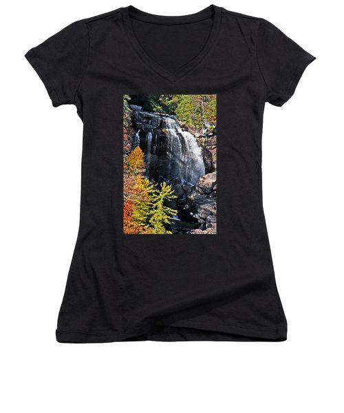 Nc Waterfalls Women's V-Neck (Athletic Fit)