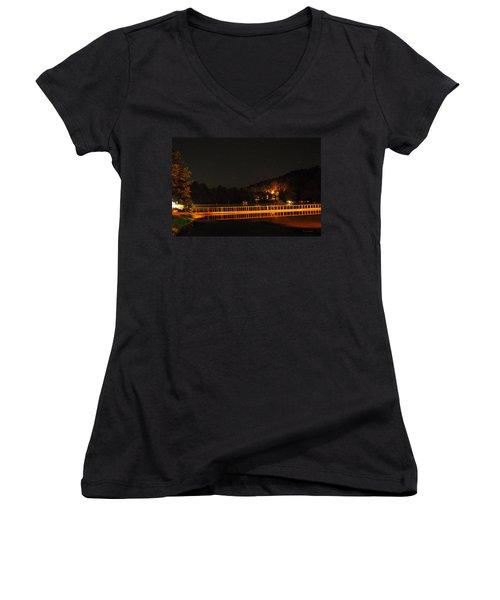 Night Bridge Women's V-Neck T-Shirt