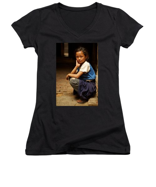 Nine Years Old Women's V-Neck T-Shirt
