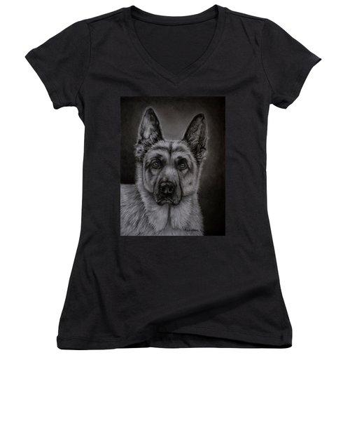 Noble - German Shepherd Dog  Women's V-Neck (Athletic Fit)