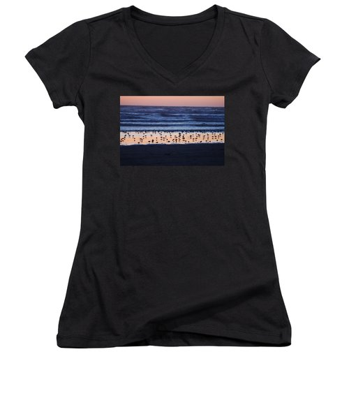 Ocean Sunset Women's V-Neck (Athletic Fit)