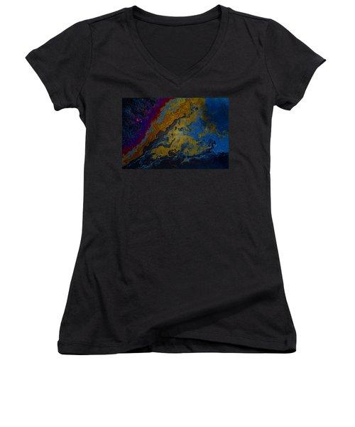 Oil On Pavement True Colors Women's V-Neck T-Shirt