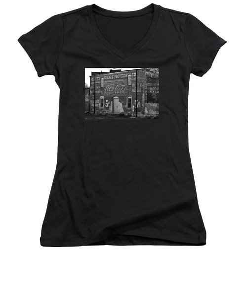 Old Building In Salisbury Nc Women's V-Neck (Athletic Fit)