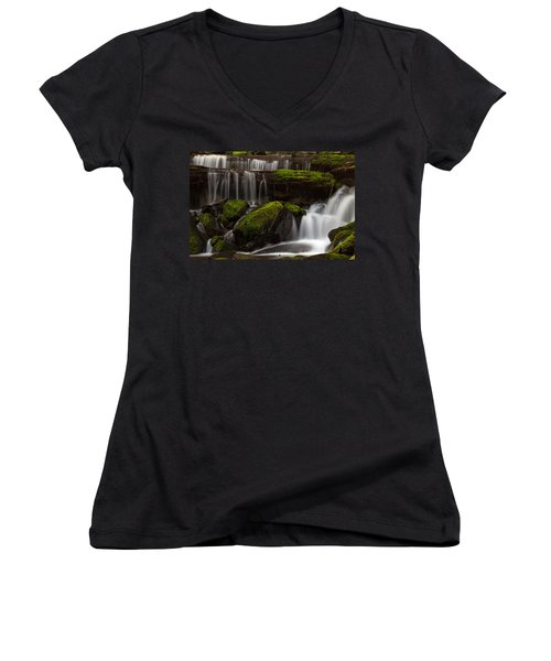 Olympics Gentle Stream Women's V-Neck T-Shirt (Junior Cut) by Mike Reid