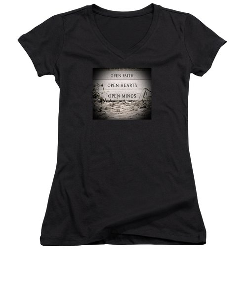 Openings Women's V-Neck T-Shirt (Junior Cut) by Jean Haynes