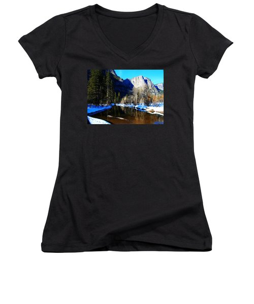 Over The Meadow Women's V-Neck T-Shirt