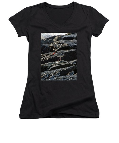 Oyster On The Rocks Women's V-Neck