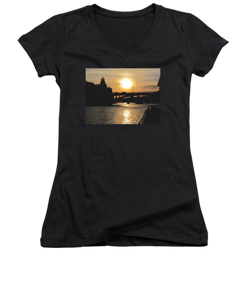 Parisian Sunset Women's V-Neck (Athletic Fit)