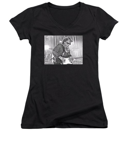 Women's V-Neck T-Shirt (Junior Cut) featuring the photograph Perry  by Traci Cottingham