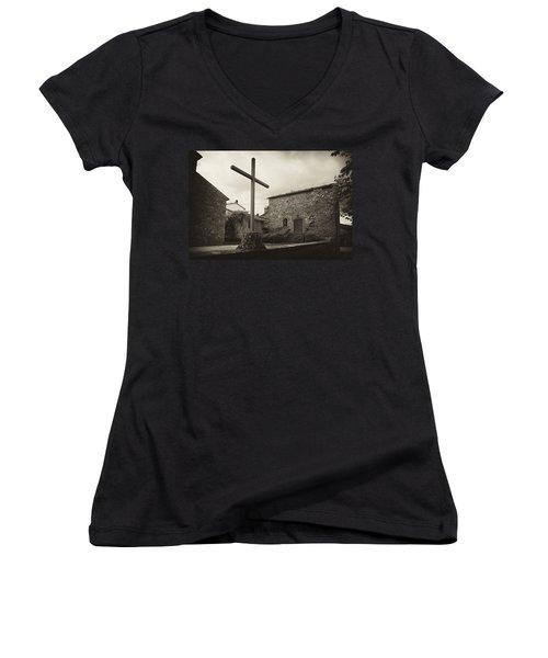 Women's V-Neck T-Shirt (Junior Cut) featuring the photograph Pieve Di Santa Maria Alla Sovarra by Hugh Smith