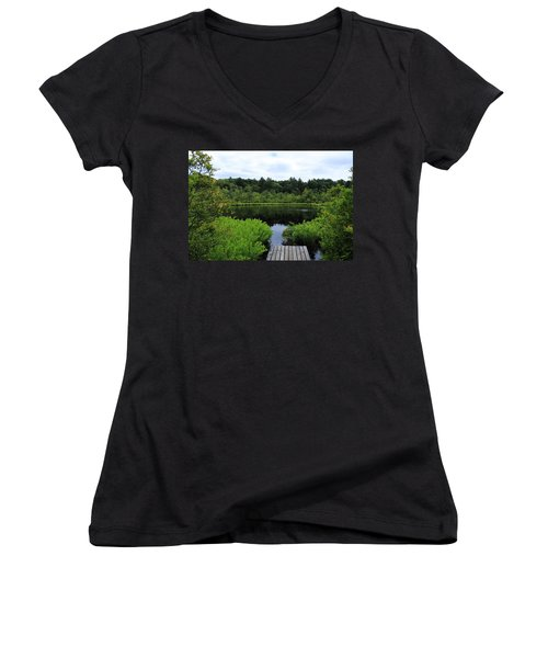 Pine Hole Pond Women's V-Neck (Athletic Fit)