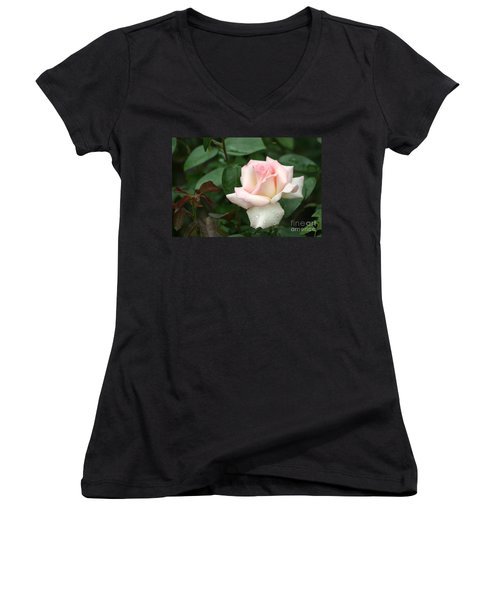 Pink Promise Women's V-Neck T-Shirt (Junior Cut) by Living Color Photography Lorraine Lynch