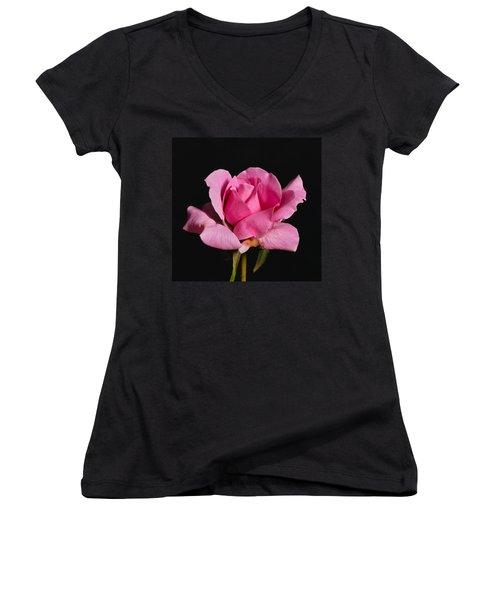 Pink Tea Rose Women's V-Neck