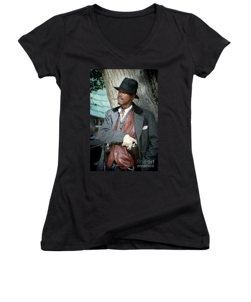 Portrait Of Kurupt Women's V-Neck T-Shirt