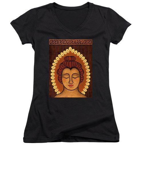 Radiant Peace Women's V-Neck T-Shirt