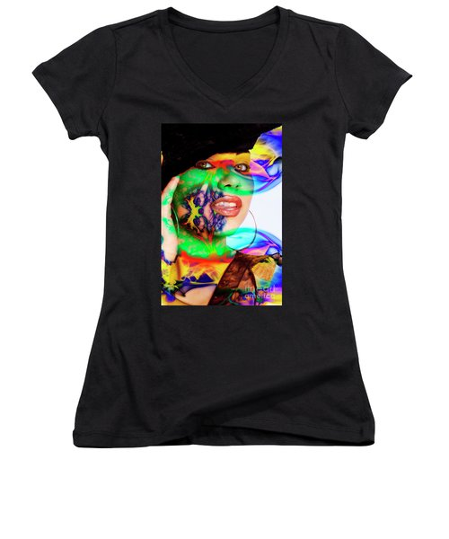 Rainbow Beauty Women's V-Neck