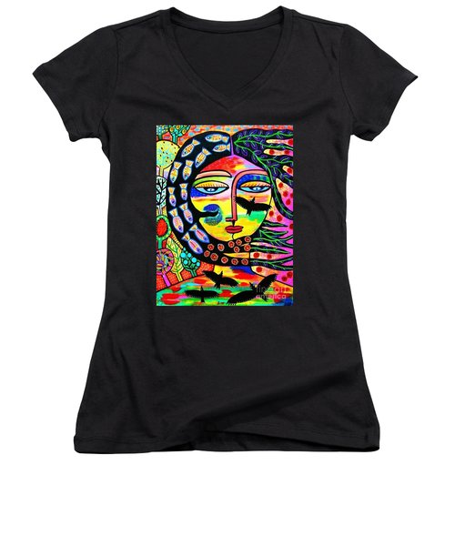 Raven Goddess Women's V-Neck (Athletic Fit)