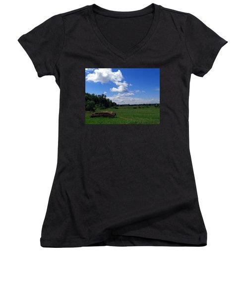Ready For Work Women's V-Neck T-Shirt