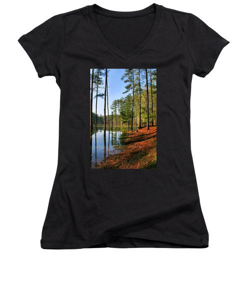 Red Top Mountain Women's V-Neck (Athletic Fit)