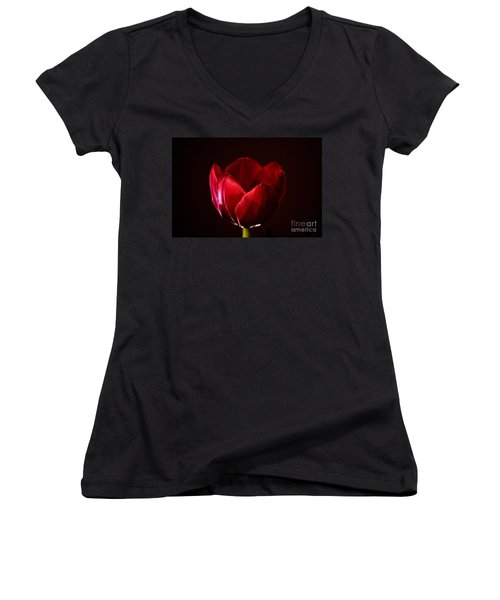 Red Tulip Women's V-Neck (Athletic Fit)