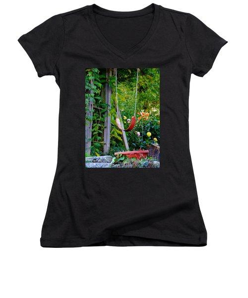 Remember... Women's V-Neck T-Shirt (Junior Cut) by Rory Sagner