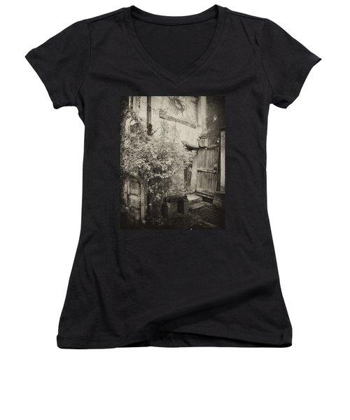 Women's V-Neck T-Shirt (Junior Cut) featuring the photograph Renovation by Hugh Smith