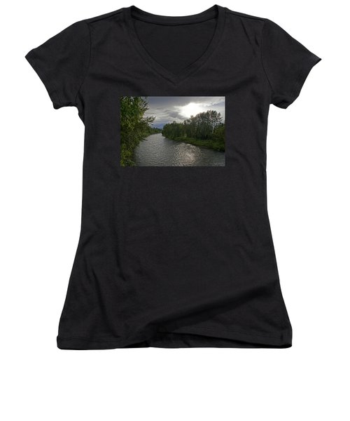 Rogue River In May Women's V-Neck T-Shirt