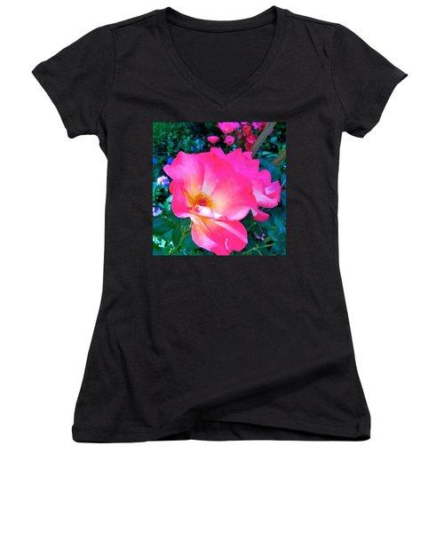 Roses From Anna's Gardens Women's V-Neck T-Shirt