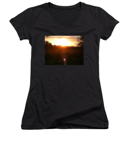 Russian River Sunrise Women's V-Neck (Athletic Fit)