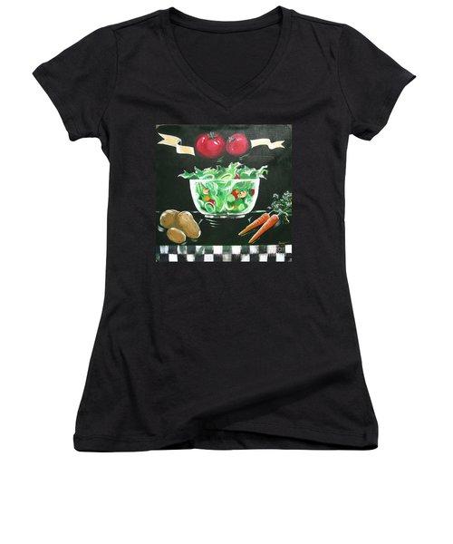 Salad Bowl Women's V-Neck (Athletic Fit)