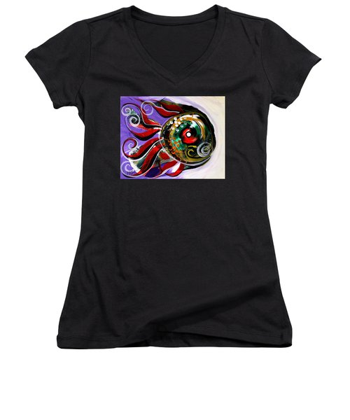 Salvador Dali Octo Fish Women's V-Neck