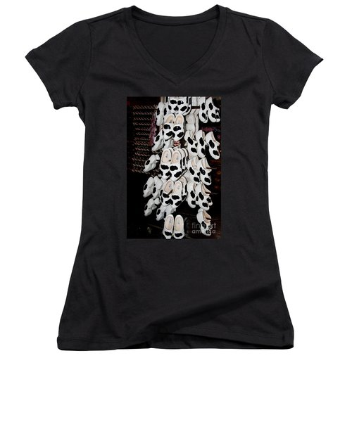 Women's V-Neck T-Shirt (Junior Cut) featuring the digital art Scenes From Amsterdam by Carol Ailles