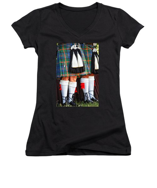 Scottish Festival 4 Women's V-Neck T-Shirt (Junior Cut) by Dawn Eshelman