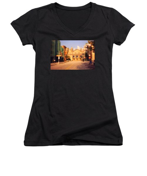 Seaport Tiltshift Women's V-Neck T-Shirt (Junior Cut) by EricaMaxine  Price