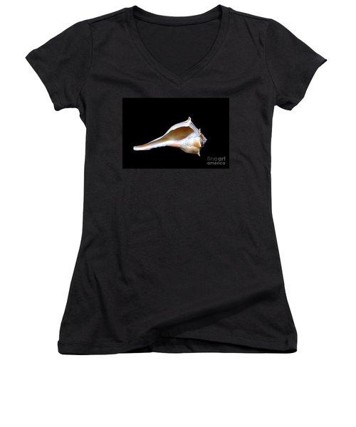 Women's V-Neck T-Shirt (Junior Cut) featuring the photograph Seashell 2 by Deniece Platt