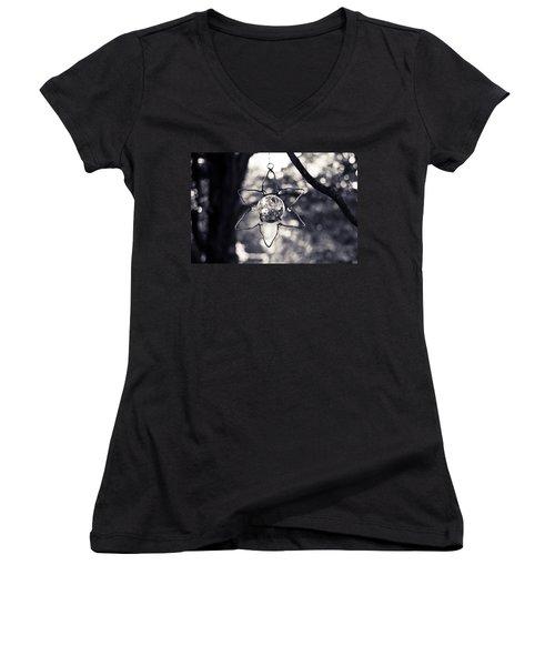 Women's V-Neck T-Shirt (Junior Cut) featuring the photograph Serendipity by Sara Frank