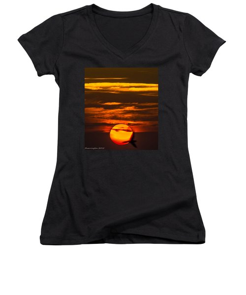 Setting Sun Flyby Women's V-Neck (Athletic Fit)