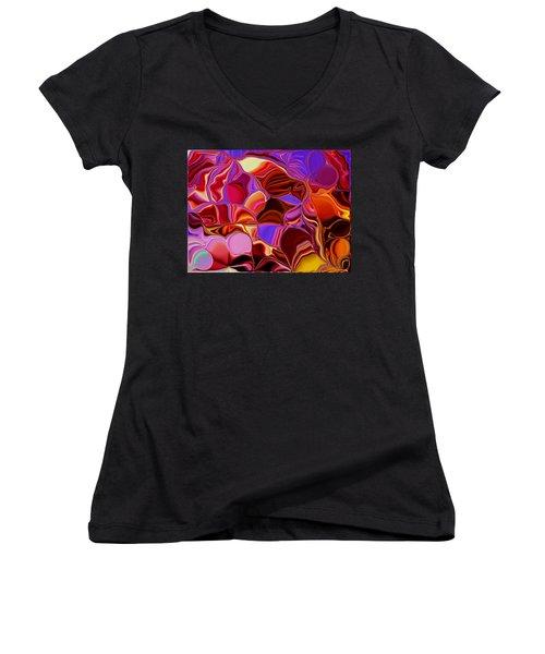 Shades Of Satin Women's V-Neck T-Shirt