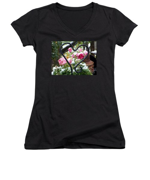 Shot Through The Heart Women's V-Neck (Athletic Fit)