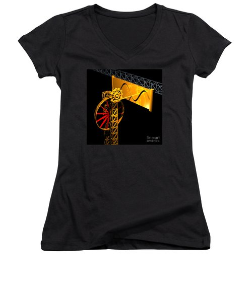Sine Wave Machine Women's V-Neck (Athletic Fit)