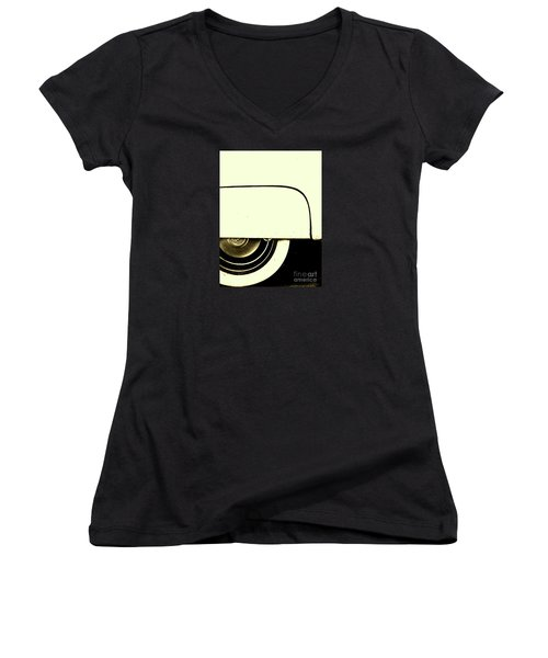 Sitting Pretty Women's V-Neck T-Shirt (Junior Cut) by Joe Jake Pratt