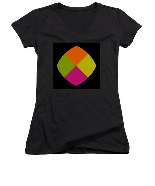 Women's V-Neck T-Shirt (Junior Cut) featuring the photograph Six Squared Blowout by Steve Purnell