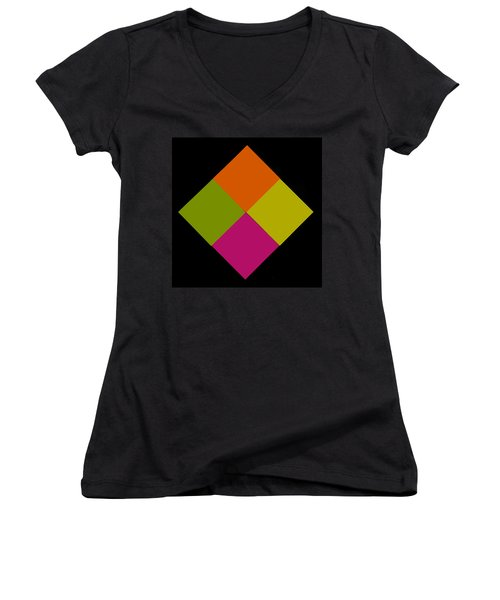 Women's V-Neck T-Shirt (Junior Cut) featuring the photograph Six Squared by Steve Purnell